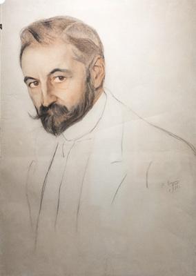 Saveliy Abramovich Sorin. Portrait of Prince S. M. Volkonsky. 1915