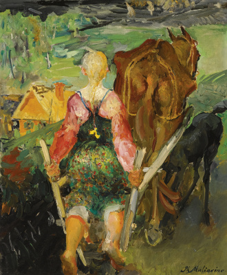 Philip Andreevich Malyavin. Plowing