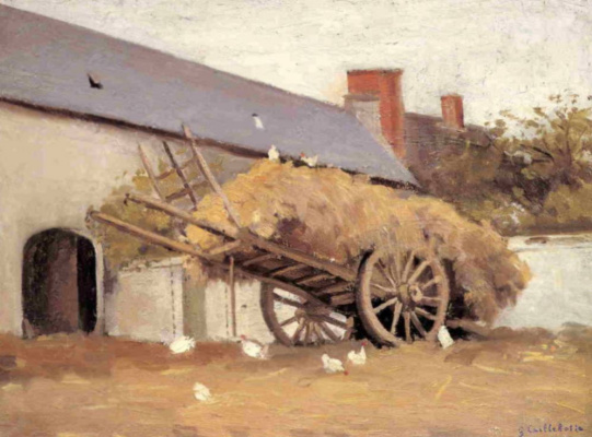 Gustave Caillebotte. Laden wagon