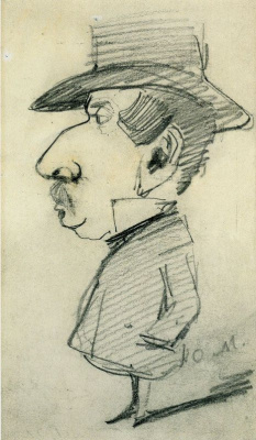 Claude Monet. Caricature Of Grandfather Lebas