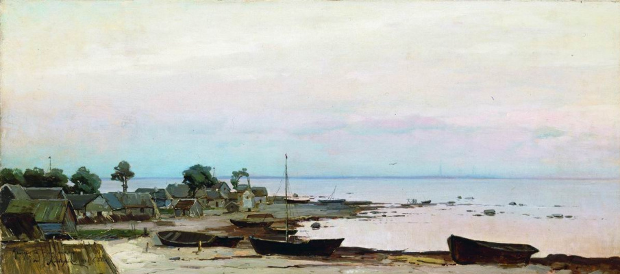 Julius Klever. The Environs Of St. Petersburg. Lakhta