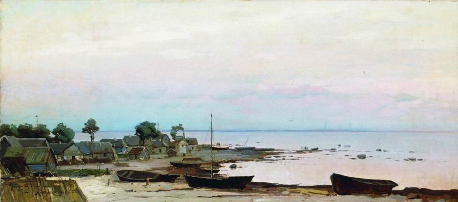 Julius Klever. The Environs Of St. Petersburg. Lakhta