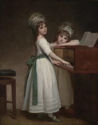 George Romney. Portrait of Mary and Catharina, daughters of Edward Turlough, 1st Baron Turlou