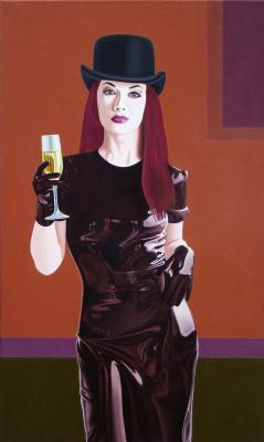 Zherebilo Vasiliy. Girl with a glass.