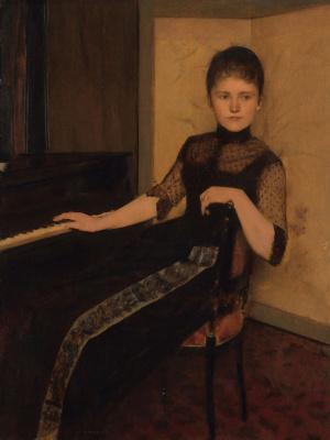 Фернан Кнопф. Портрет Марии Франциски Луизы ван Полдерсвельд