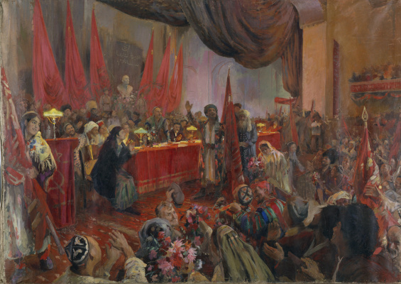 Pavel Petrovich Benkov. The first Kurultay. Proclamation of the Uzbek SSR