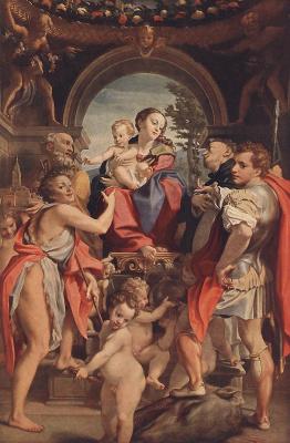 Антонио Корреджо. Мадонна с младенцем и Святой Георг