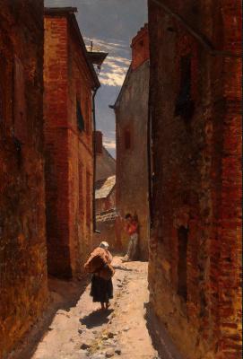 Альфонс Мари де Невиль. Улица старого города