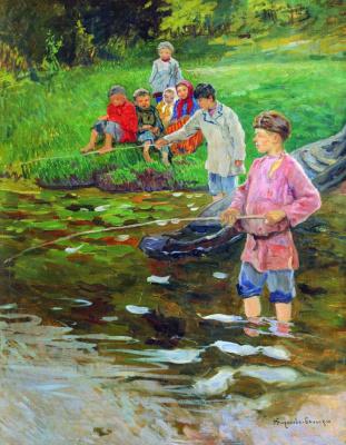 Николай Петрович Богданов-Бельский. Дети-рыбаки