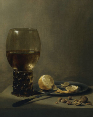 Peter Class. Still Life with Römer, Lemon and Nuts
