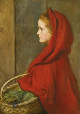 John Everett Millais. Red riding hood. A Portrait of Effie Millais, the artist's daughter