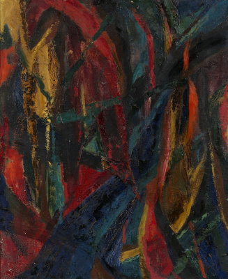 Lidia Alekseeva Masterkova. Composition in red and blue