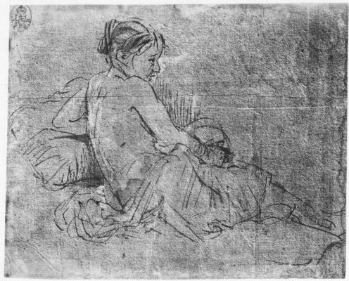 Rembrandt Harmenszoon van Rijn. Half-naked young woman
