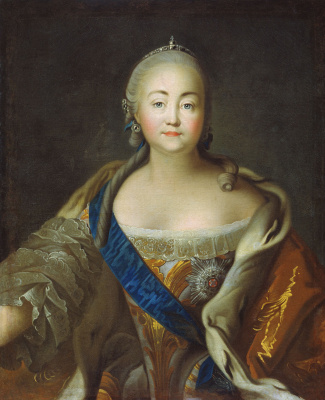 Ivan Petrovich Argunov. Portrait of Empress Elizabeth Petrovna. The end of 1750 - 1760 oil on canvas, 86 x 71