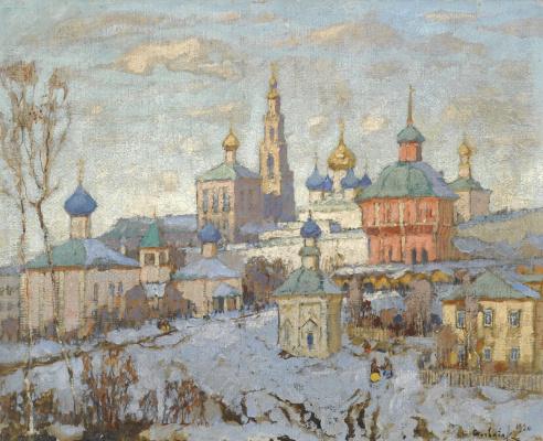 Константин Иванович Горбатов. Вид Новодевичьего монастыря. 1920