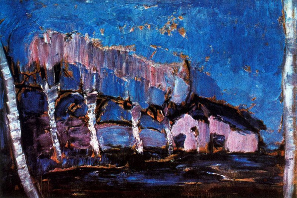 Piet Mondrian. Evening landscape