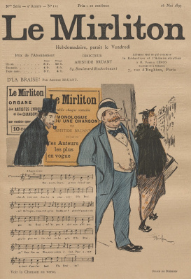 """Теофиль-Александр Стейнлен. Иллюстрация для журнала """"Мирлитон"""" № 111, 26 мая 1893 года"""