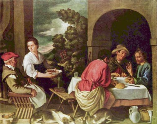 Педро де Орренте. Христос и апостолы в Эммаусе