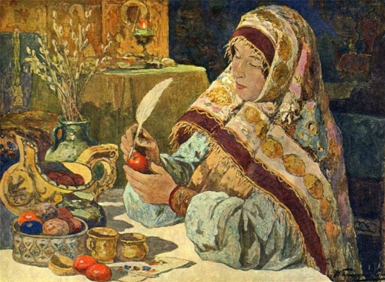 Ivan Goryushkin-Sorokopudov. The eve of the Passover in the old days