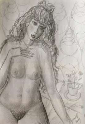 Vladimir Petrovich Chernov. Pensive nude