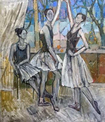 Ekaterina Konstantinovna Krestyaninova. Three ballerinas. The night before Christmas.