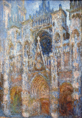 Claude Monet. Rouen Cathedral, the portal; harmony blue