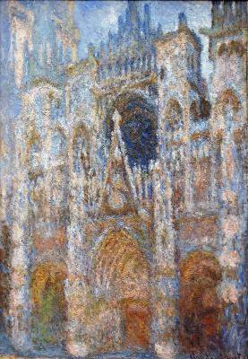Клод Моне. Руанский собор, портал; гармония голубого
