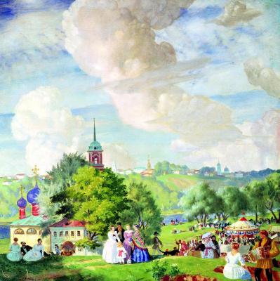 Boris Mikhailovich Kustodiev. Summer holiday