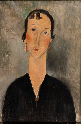 Portrait of woman with earrings