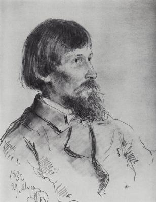 Илья Ефимович Репин. Портрет В. М. Васнецова