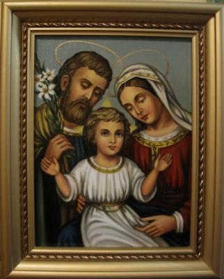 Ядвига Сенько. Святое Семейство - икона католическая (холст,масло)