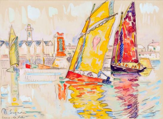 Paul Signac. The port of Croix-de-Vie