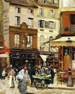 Jean-François Raffaelli. The Streets Of Montmartre
