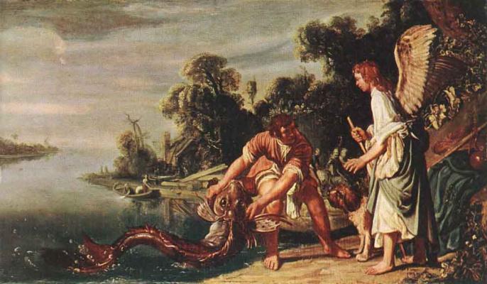 Питер Питерс Ластман. Ангел и Тобиас с рыбой