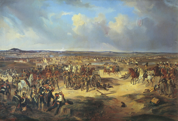 Bogdan Pavlovich Willewalde. Battle of Paris on March 17, 1814. 1834