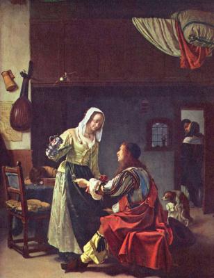Франц ван Мирис Старший. Солдат и девушка