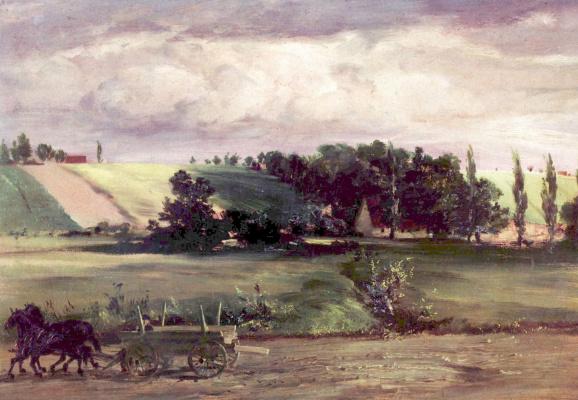 Adolf Friedrich Erdmann von Menzel. The storm on Tempelhofer mountain