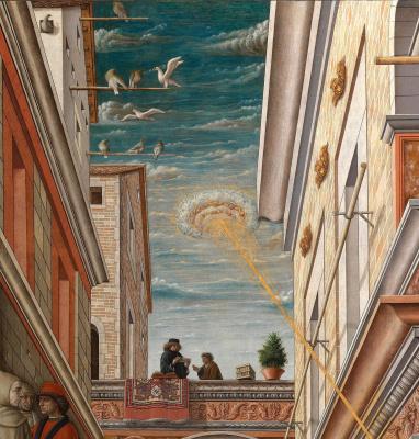 Carlo Crivelli. Annunciation with Saint Emidius in Ascoli Piceno. Fragment