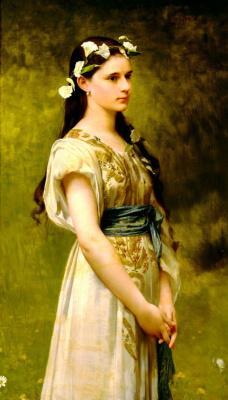 Jules Joseph Lefebvre. Portrait of Julia Foster Ward. 1880