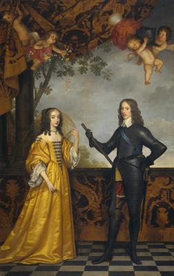 Gerard van Honthorst. Portrait of Wilhelm II, Prince of Orange, and his wife Maria Stewart