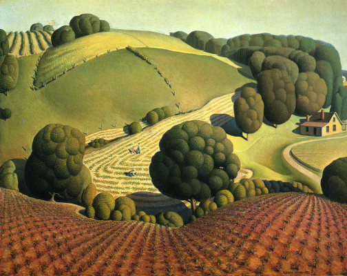 Grant Wood. Young corn