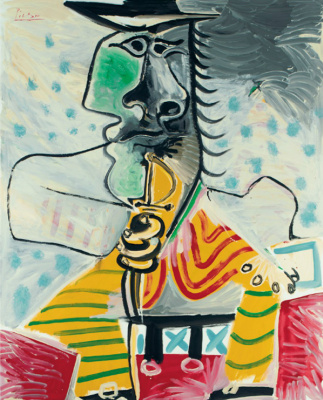 Pablo Picasso. A man with a sword