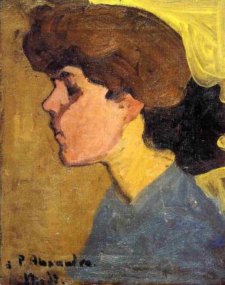 Amedeo Modigliani. Portrait of woman in profile