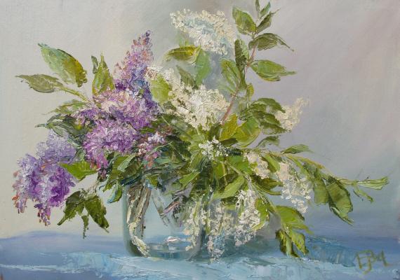Elena Valyavina. Lilac and bird cherry