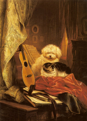 Henrietta Ronner Knip. Best friends