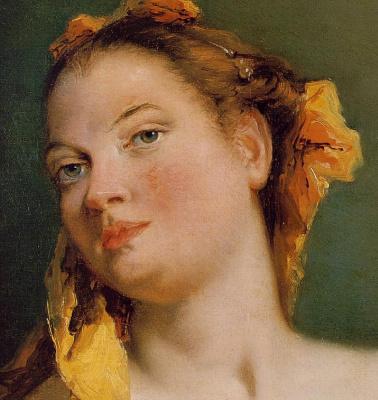 Джованни Баттиста Тьеполо. Woman with a mandolin. Fragment