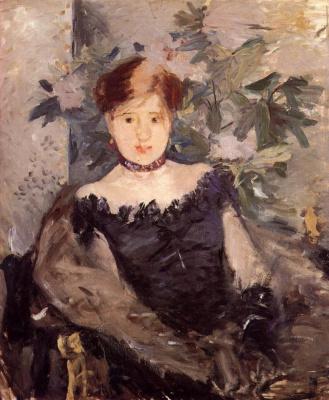 Berthe Morisot. The woman in black