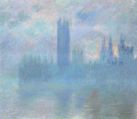 Claude Monet. The Parliament building in London