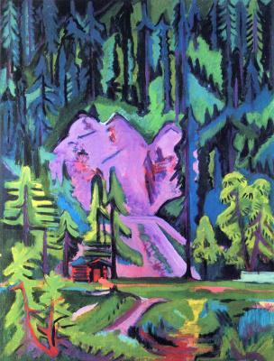 Ernst Ludwig Kirchner. Forest landscape