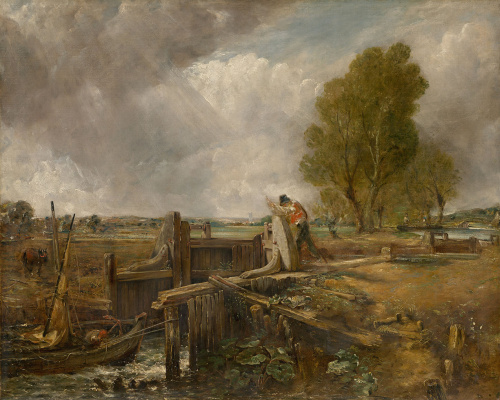"John Constable. Study of ""A boat passing a lock"""